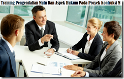training quality control and legal aspects of construction projects murah